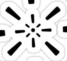 Mandala 41 Back In Black Sticker