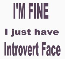 Introvert Face Kids Clothes