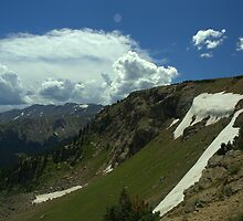 Near the Top of Hagerman Pass (Snow in August!) by Scott Heinley