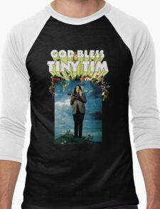 God Bless Tiny Tim Men's Baseball ¾ T-Shirt