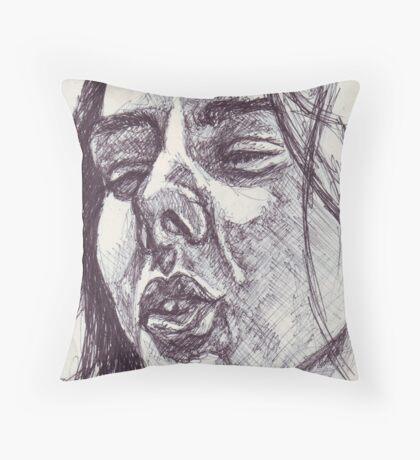 Ecstatic Trance Sketch Throw Pillow