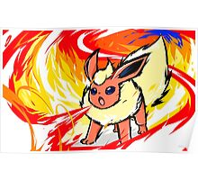 Flareon | Fire Spin Poster