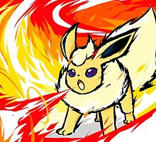 Shiny Flareon | Fire Spin by ishmam