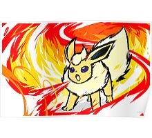 Shiny Flareon | Fire Spin Poster