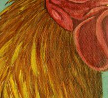 Rooster portrait Sticker