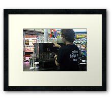 Coffee Helps Me Focus Framed Print