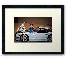 Doc and Marty on a Z Framed Print