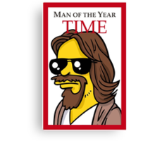 Dude of the year parody. Canvas Print