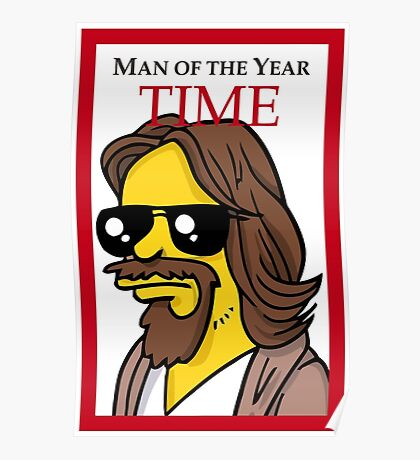 Dude of the year parody. Poster