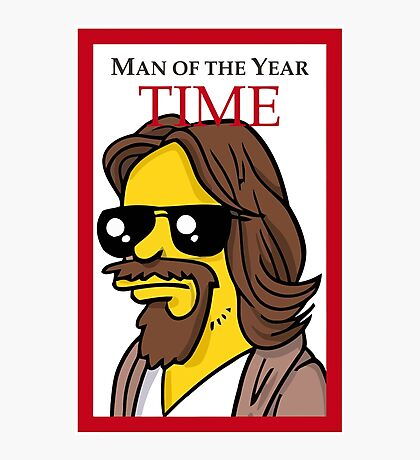 Dude of the year parody. Photographic Print