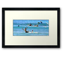 Kids wild wipe out Framed Print
