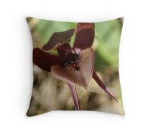 "Large Bird Orchid ""Chiloglottis valida""  Throw Pillow"