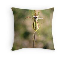 """Green-comb Spider Orchid """"Caladenia dilatata"""" #1 Throw Pillow"""