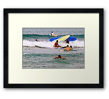 Surf boards crash Framed Print
