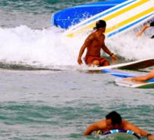 Surf boards crash Sticker