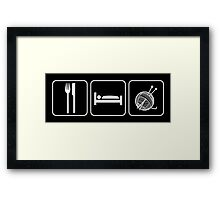 Eat Sleep Knitting Framed Print
