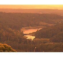 dams hills water Photographic Print