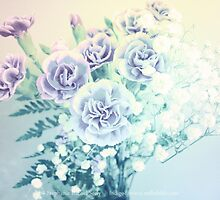 Carnations In Vintage Pastels by Stephanie Rachel Seely