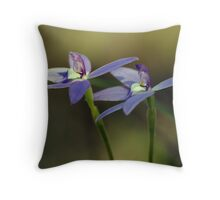 "Waxlip Orchid ""Glossodia Major"" #3 Throw Pillow"