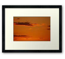 Sunset Color Framed Print