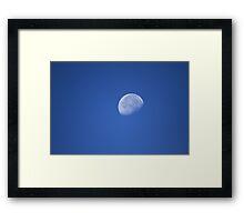 Waning gibbous moon Framed Print