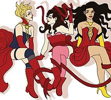 Burlesque Marvel Ladies by dr-kara
