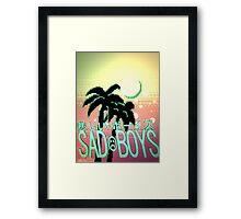 Sadboys Palm Trees Framed Print