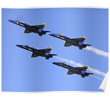 The Blue Angels (Boeing FA-18 Hornet Planes) Poster