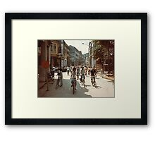 *Street Scene in China* Framed Print