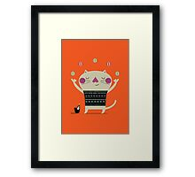 Cute Cat Juggling Framed Print