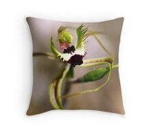 "Green-comb Spider Orchid ""Caladenia dilatata"" #2 Throw Pillow"