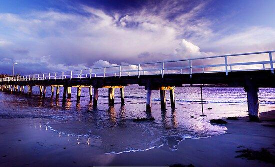 Causeway Storm. by Steve Chapple