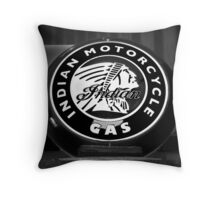Indian Motorcycle Sign Throw Pillow