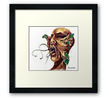 Butterfly attac Framed Print