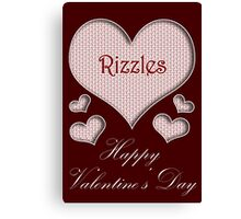 Rizzles Happy Valentines Day Canvas Print