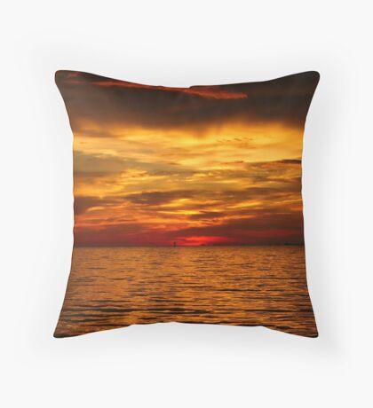 Louisiana Bayou Sunset Throw Pillow