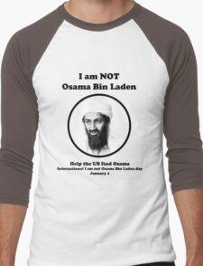 I am not Osama Bin Laden Men's Baseball ¾ T-Shirt