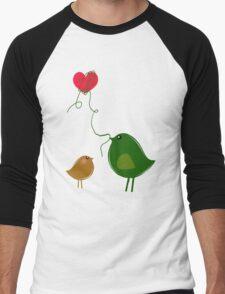 Love Birds Men's Baseball ¾ T-Shirt