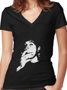 Smoking Vincent Women's Fitted V-Neck T-Shirt