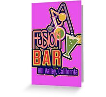 Fusion Bar Hill Valley Greeting Card