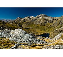Wide angle view from harris saddle Photographic Print