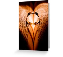 Love withstands all. Greeting Card