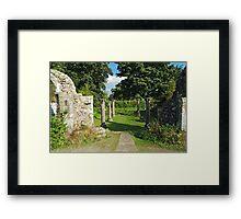In A Monastery Garden 2 Framed Print