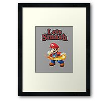 Mario Smash Bros Framed Print