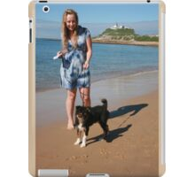 2 Ellie with her Australian Shepherd iPad Case/Skin