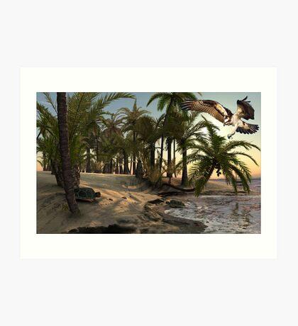 1013-Florida Beach Drama Art Print