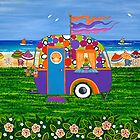 Caravan Holiday ~ Betty-Sue by Lisa Frances Judd~QuirkyHappyArt