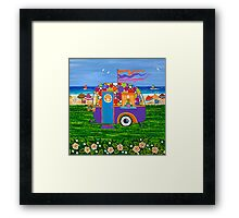 Caravan Holiday ~ Betty-Sue Framed Print
