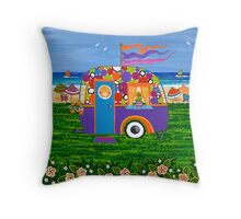Caravan Holiday ~ Betty-Sue Throw Pillow
