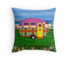 Caravan Holiday ~ Mary-Sue Throw Pillow